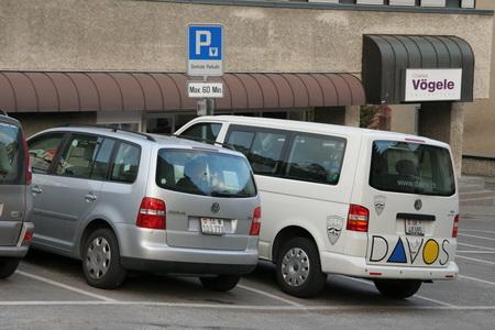 Горный рельеф сказывается даже на парковках