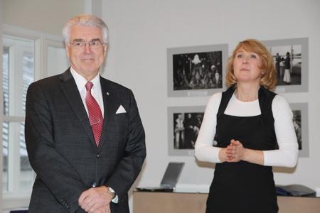 Матти Сундберг, президент Ассоциации зимних видов спорта Финляндии и Райя Форсман, директор  туристической компании Lahti Travel