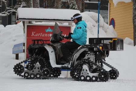 Идеальный транспорт для поездки по зимнему лесу