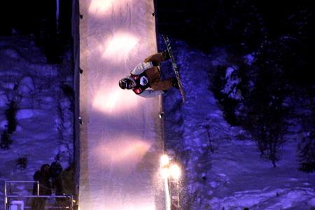 Порой сноубордисты демонстрировали явный эффект антигравитации