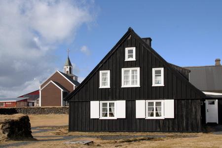Исландский традиционный дом