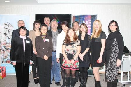 Участники пресс-ужина в Центре Международной Торговли