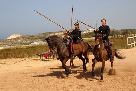 Демонстрация кавалерийских приемов