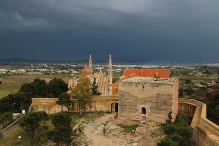 Вид со сторожевой башни замка