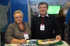 Ольга Конакова, зам. министра экономического развития Коми и Эдуард Гилибранд, директор «Финно-угорского этнокультурного парка»