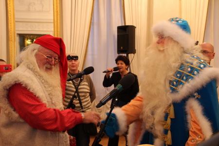 Встреча Юлениссена с Дедом Морозом