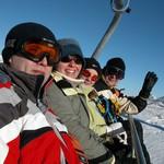 США. Штат Юта. На курорте «Парк-Сити» открыт горнолыжный сезон