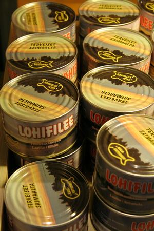 В Иматре можно купить консервы из лосося, медвежатины, оленины...