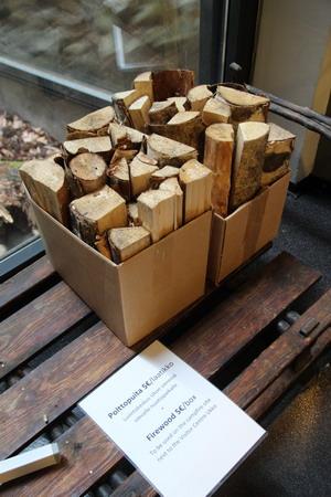 В магазине можно купить дрова для костра