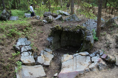 Взорванный бункер
