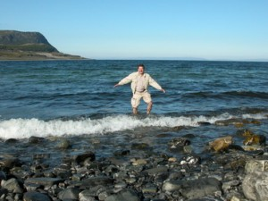 Вода в Баренцевом море бодрит даже в середине лета