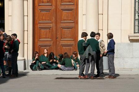 Испанские школьники весьма раскрепощены