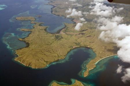 Так выглядит остров Флорес с самолета