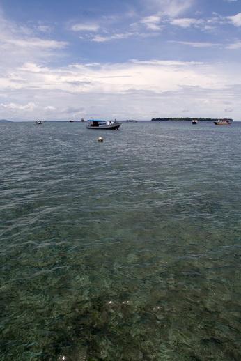 Вода у побережья отличается кристальной чистотой