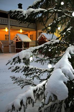 Квартал искусств зимой похож на сказочную деревушку