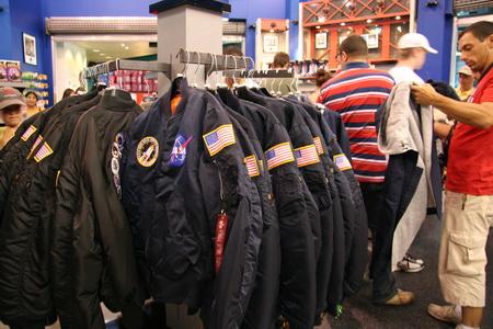В местном магазине можно приодеться по последней космической моде