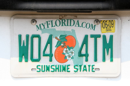 """На местных автомобильных номерах так и написано - """"Солнечный штат"""""""