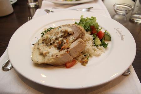 Куриное филе фаршированное овощами