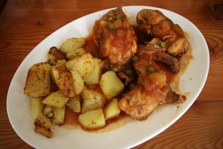 Кролик по-мальтийски с картофелем