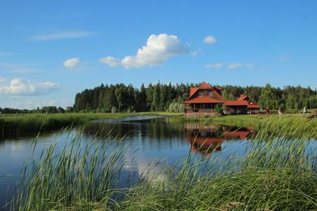 Гостевые дома расположены на берегу пруда