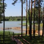 Латвия. Латгалия. Земляничная поляна с видом на озеро
