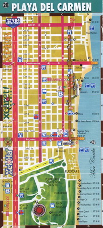 Карта Плайя-дель.Кармен