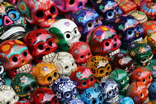 Череп - один из самых популярных сувениров в Мексике