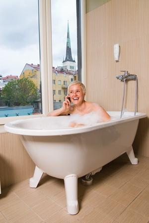 Ванная с видом на Старый город