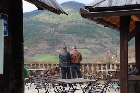 Из деревни открывается великолепная горная панорама