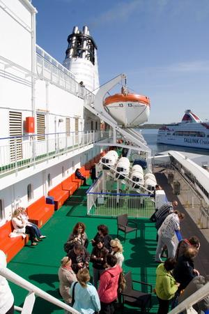 Что может быть романтичнее прогулки по открытой палубе?