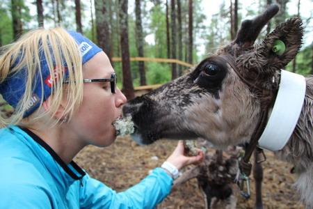 Катарина + олень = любовь