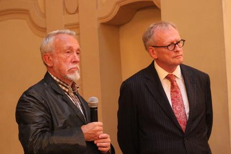 Хенри Линделёф и Владимир Гусев, директор Государственного Русского музея
